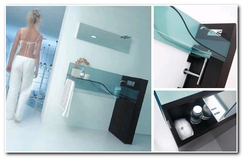 All In One Glass Sink And Countertop
