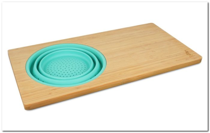 Bamboo Over The Sink Cutting Board