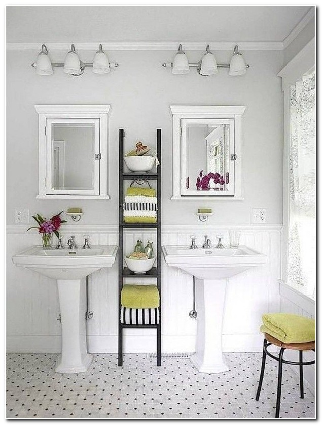 Bathroom Pedestal Sink Storage Ideas