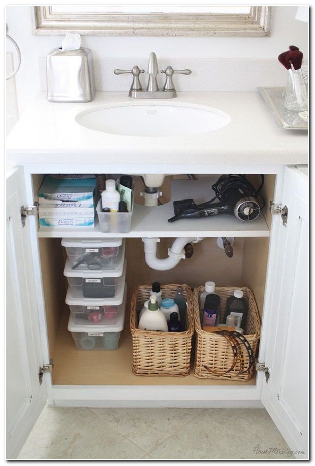 Bathroom Sink Cabinet Storage Ideas