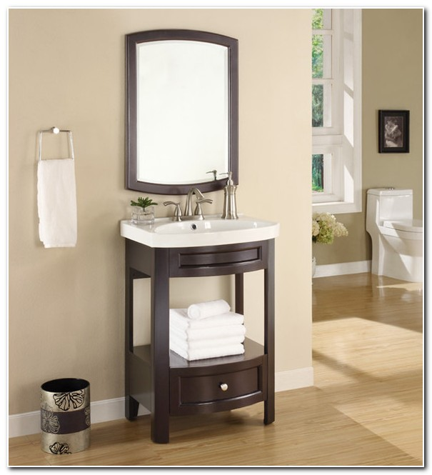 Bathroom Vanity With Sink And Mirror