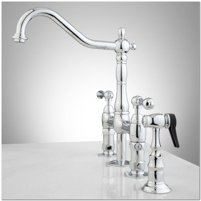 Brass And Chrome Kitchen Faucet
