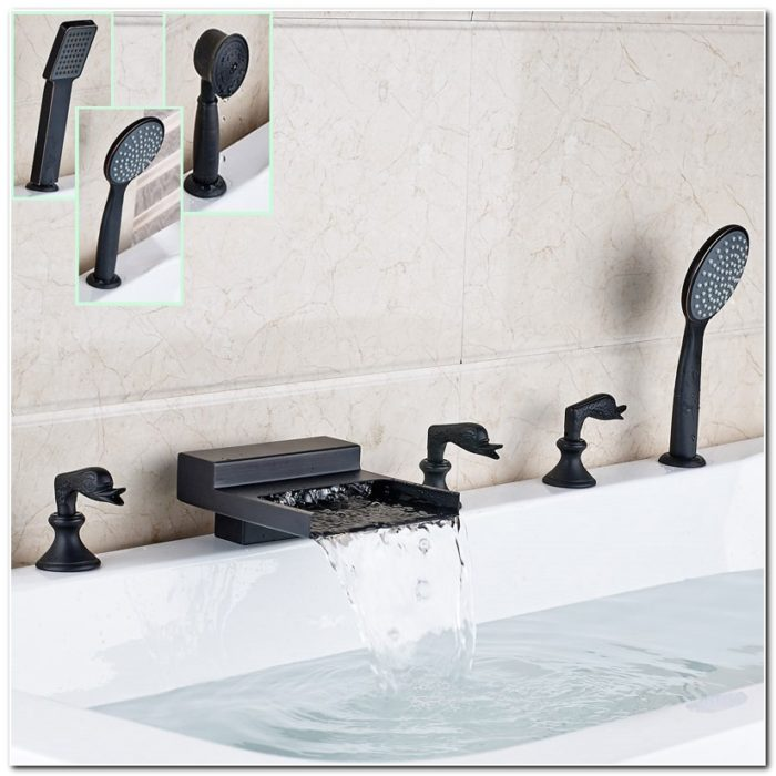 Bronze Roman Tub Waterfall Faucet