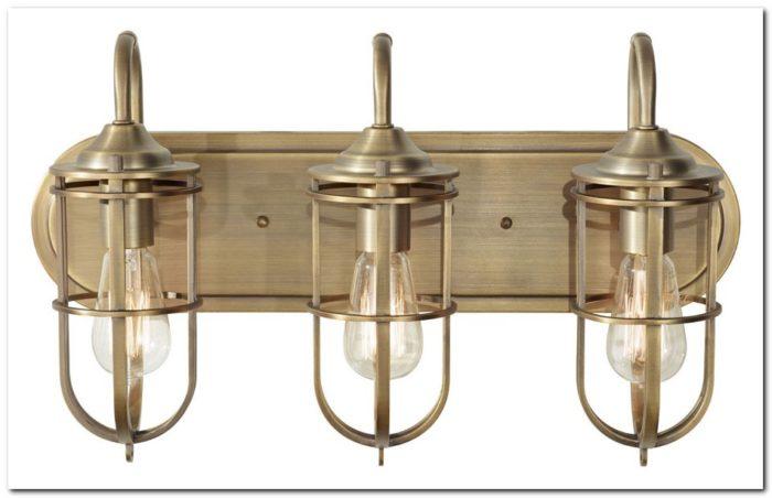 Brushed Brass Bathroom Light Fixtures