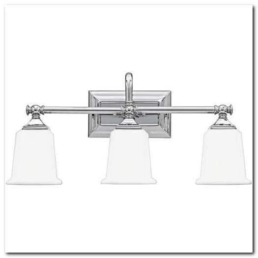 Brushed Chrome Bathroom Light Fixtures