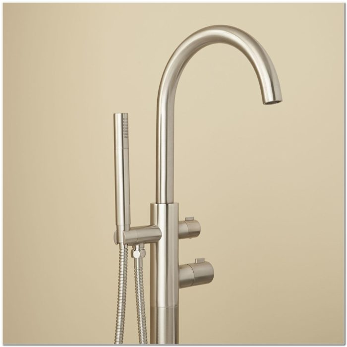 Freestanding Tub Faucets Brushed Nickel Sink And Faucet