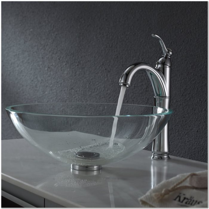 Clear Glass Vessel Bathroom Sinks