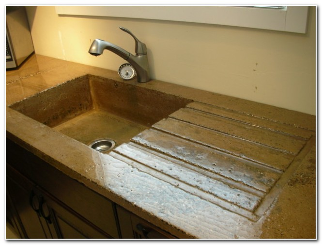 Concrete Countertop With Built In Sink