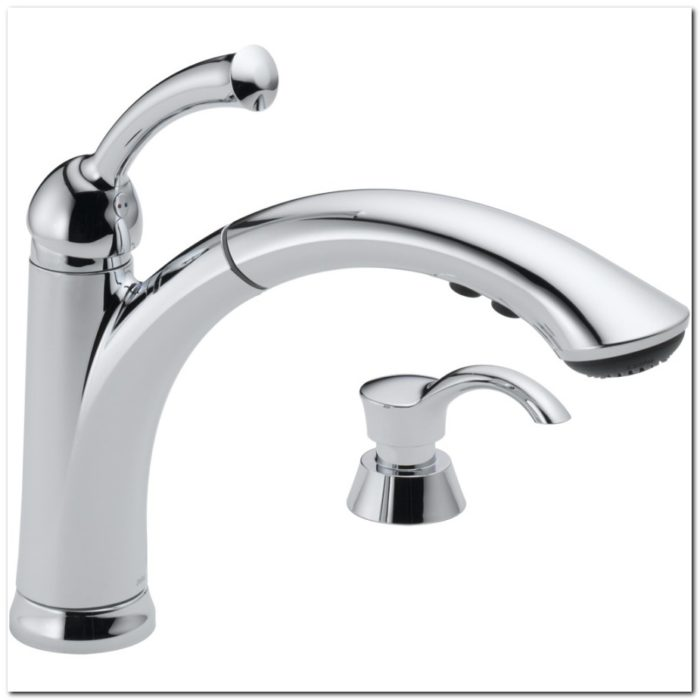 Delta Lewiston Chrome Kitchen Faucet