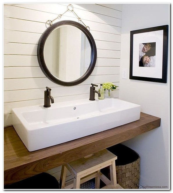 Double Bathroom Sinks Small Spaces