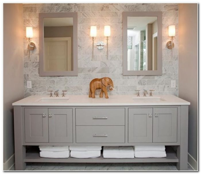 Double Sink Bathroom Vanity Decorating Ideas