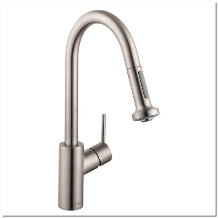 Hansgrohe Metro Higharc Kitchen Faucet Chrome Sink And