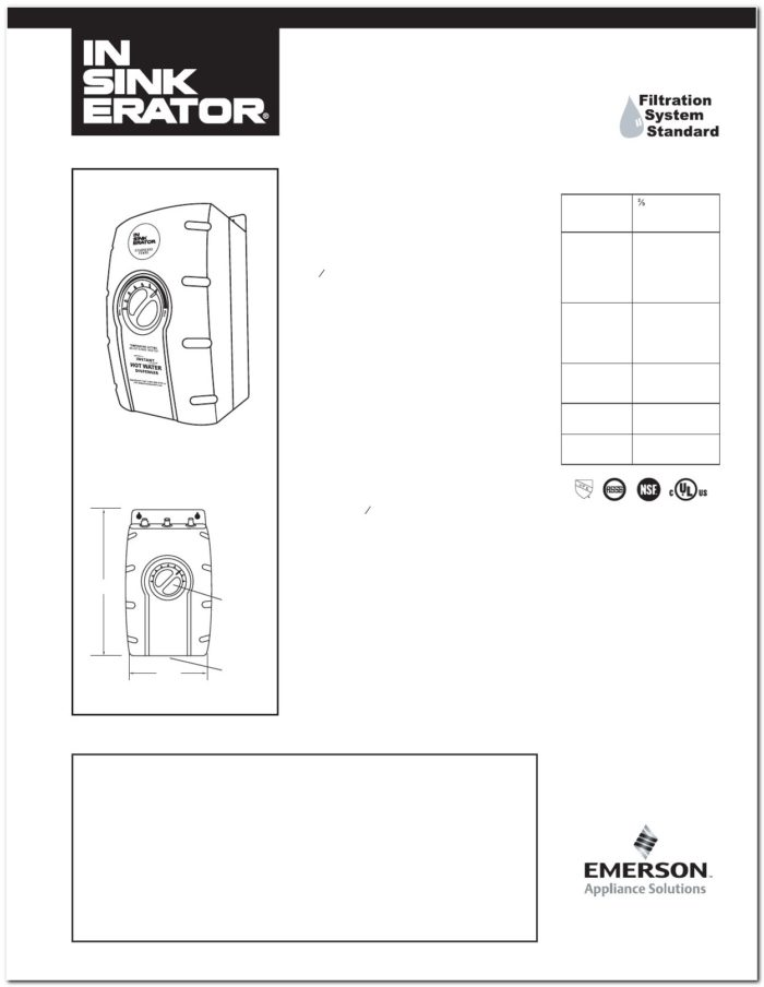 Emerson Insinkerator Model 1 87 - Sink And Faucet : Home