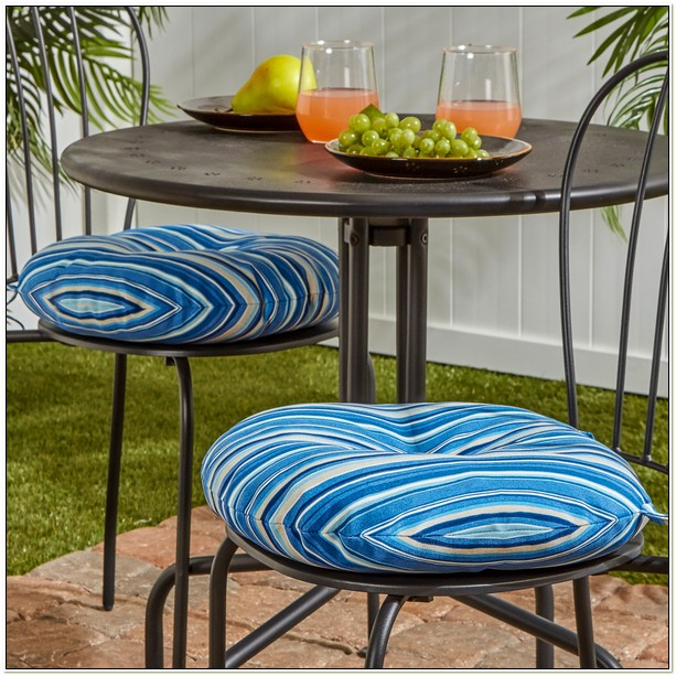 15 Inch Round Outdoor Bistro Chair Cushions