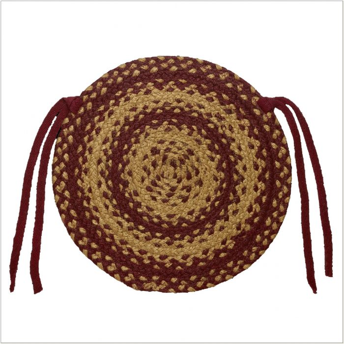 15 Round Braided Chair Pads