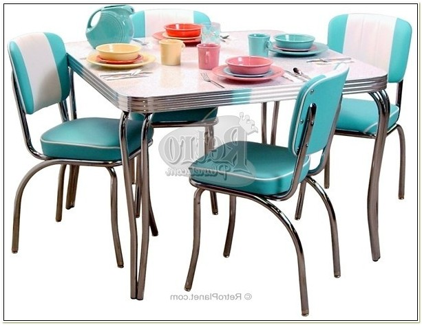1950s Style Kitchen Table And Chairs