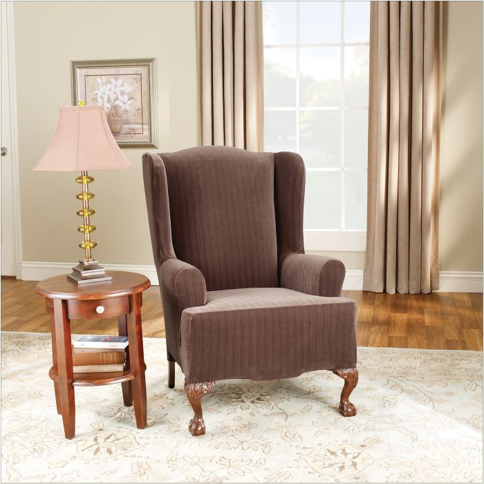 2 Piece Wing Chair Slipcover