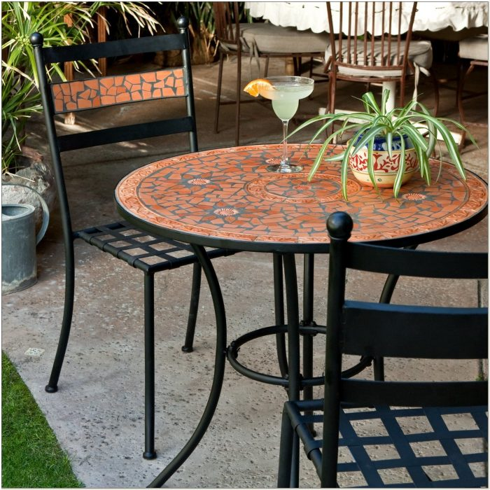 4 Chair Bistro Patio Set
