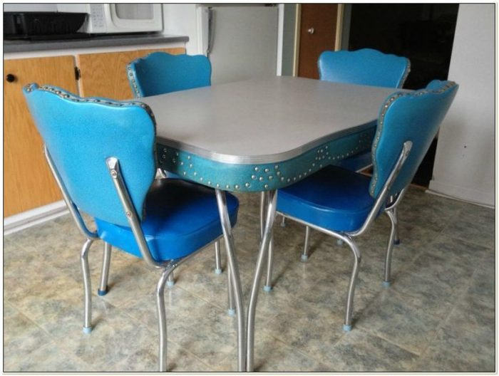50s Metal Kitchen Table And Chairs