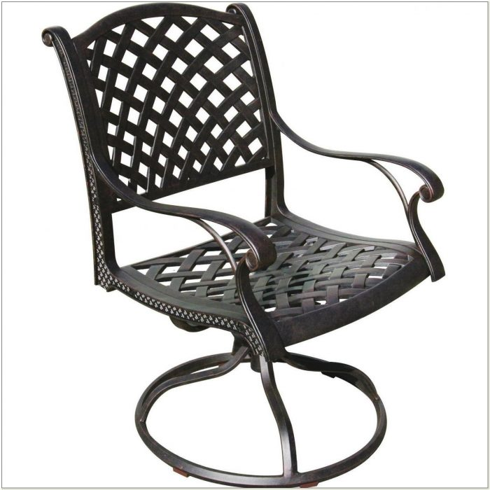 Aluminum Swivel Rocker Patio Dining Chairs