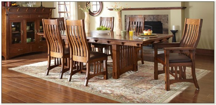 Amish Dining Table Chairs