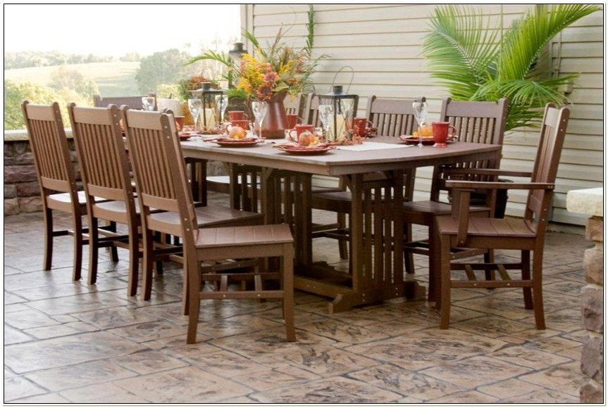 Amish Patio Table And Chairs