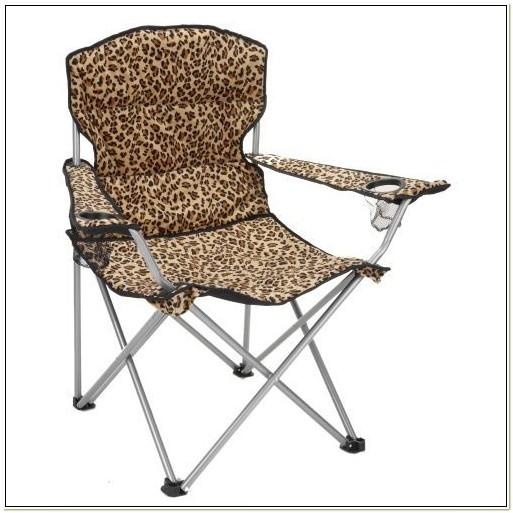 Animal Print Folding Chair