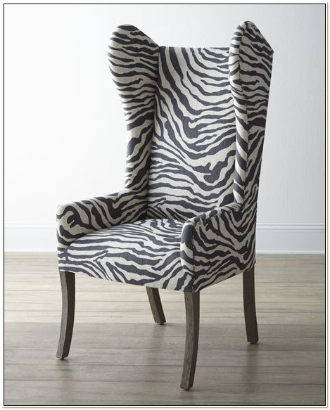 Animal Print Wing Chairs