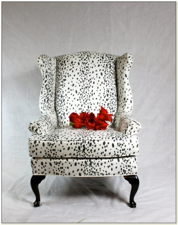 Animal Print Wingback Chairs