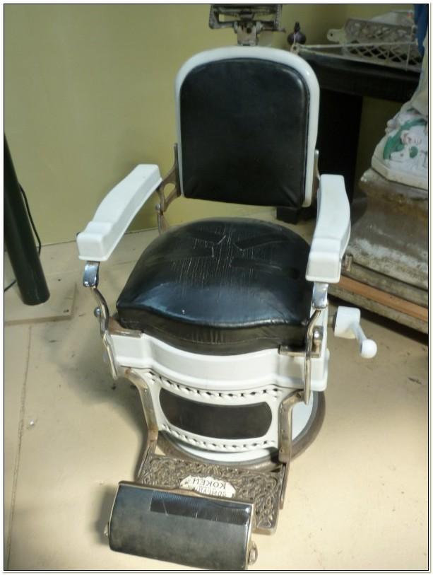 Antique Koken Barber Chair Headrest