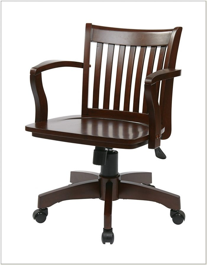 Armless Wood Bankers Chair Espresso
