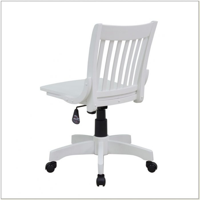 Armless Wood Bankers Chair White