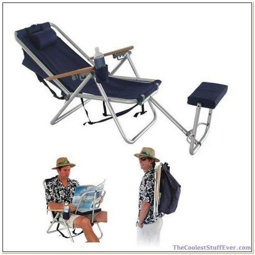 Backpack Beach Chair With Footrest
