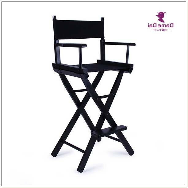 Bar Height Directors Chair Black Frame