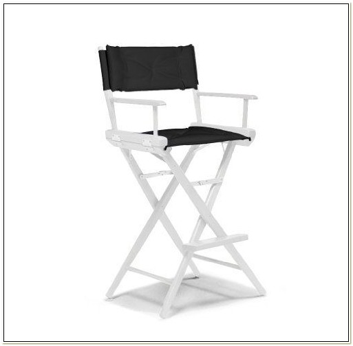 Bar Height Directors Chair White Frame