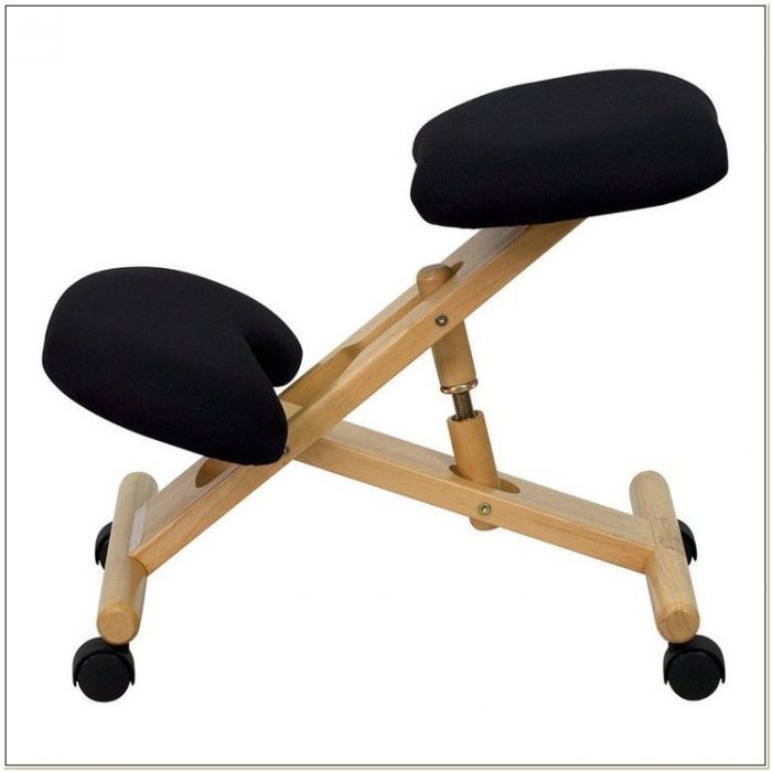 Black Kneeling Posture Ergonomic Chair Office Wooden