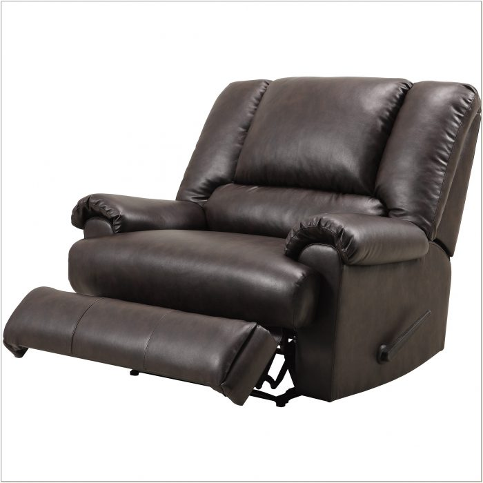 Black Leather Chair And A Half Recliner