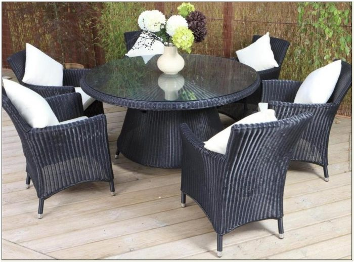 Black Wicker Outdoor Dining Chairs