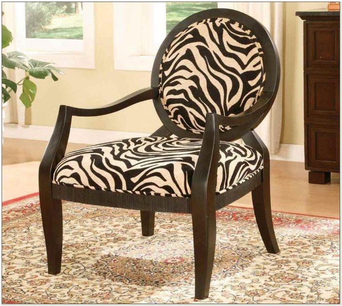 Brown Zebra Accent Chair