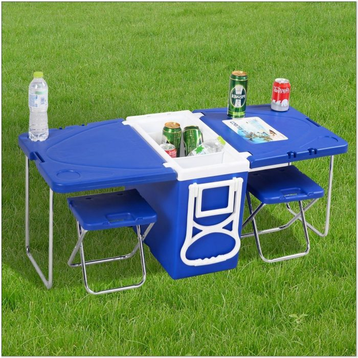 Camping Chair With Cooler And Table
