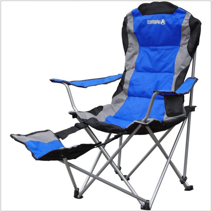 Camping Chair With Footrest And Pillow