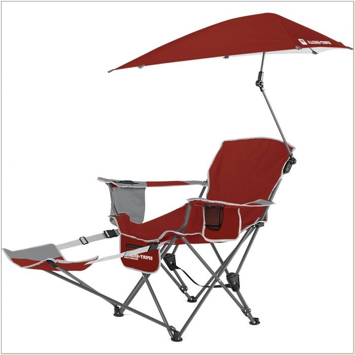 Camping Chair With Footrest And Umbrella