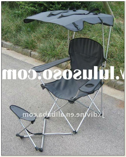 Camping Chairs With Footrest And Canopy