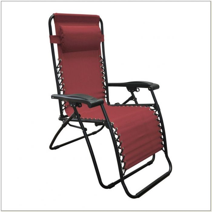 Caravan Canopy Zero Gravity Lounge Chair Burgundy