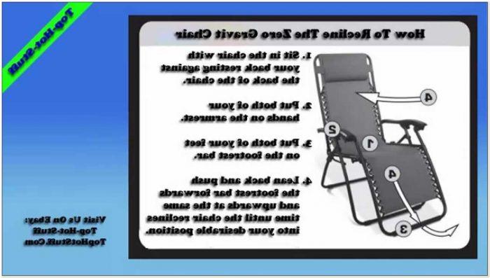 Caravan Zero Gravity Chair Instructions