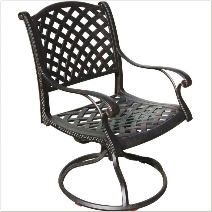 Cast Aluminum Swivel Rocker Patio Chairs