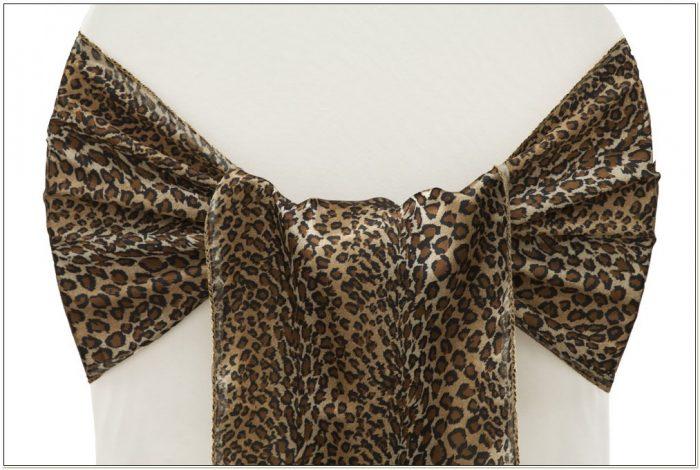 Cheetah Print Chair Sashes