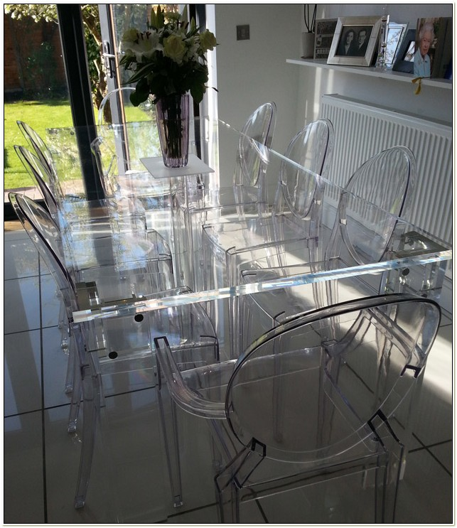 Clear Acrylic Dining Room Set
