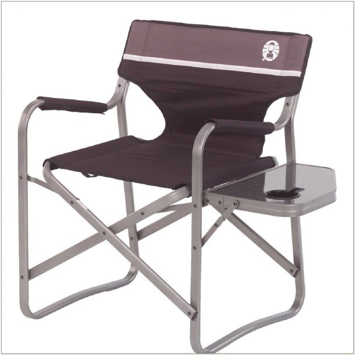 Coleman Aluminium Directors Chair With Side Table