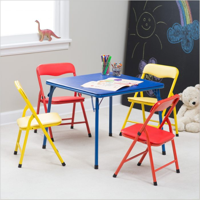 Cosco Childrens Folding Table And Chairs